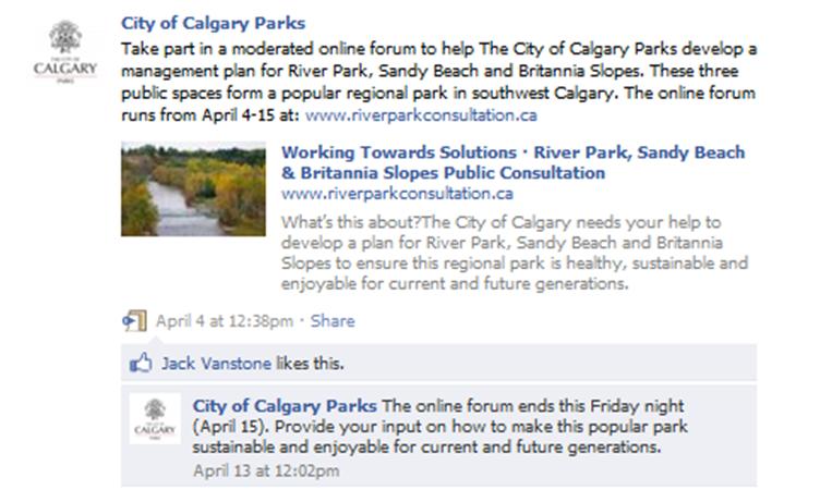 Calgary Consultation Facebook