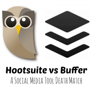 Hootsuite and Buffer logos