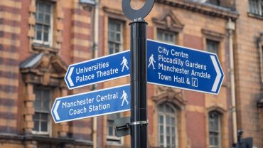 News: Manchester sign post