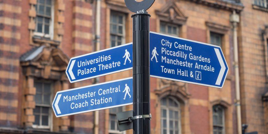 News: Manchester sign post